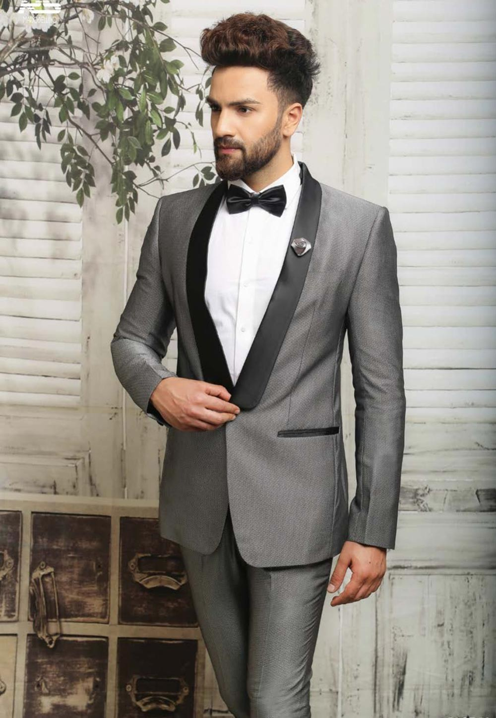 GREY COLOR SUIT IN ITALIAN FABRIC
