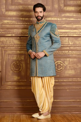 BLUE,FAWN COLOUR MARVELOUS LOOK INDOWESTERN