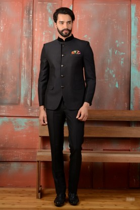 Designer Black Color Jodhpuri Blazer