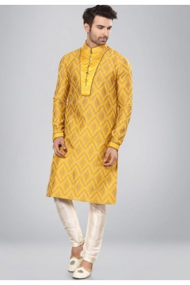 Yellow,Golden Color Imported Kurta Pajama.