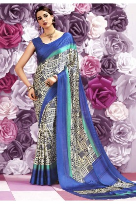 Blue Color Party Wear Saree
