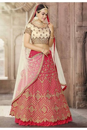 Royal Pink Color Wedding Lehenga Choli