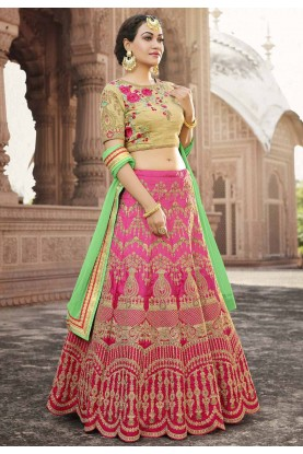 Pink Color Bridesmaid Lehenga Choli