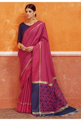 Pink Color Party Wear Saree