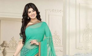 Turquoise Saree With Pretty Fancy Pallu