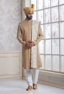 LUSTROUS WEDDING SHERWANI AND ACHKAN STYLE