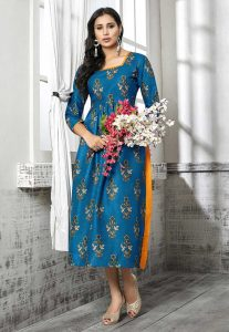 Incredible Anarkali Kurti Style in Multi Color