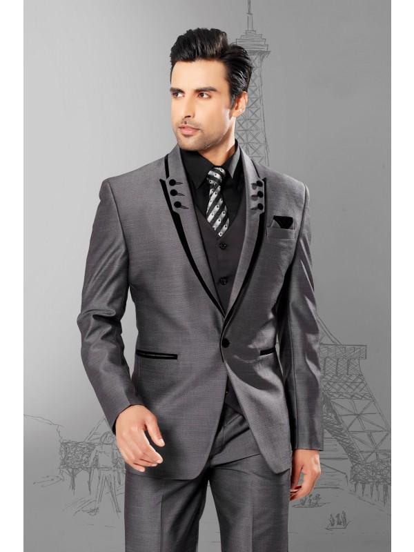 Buy grey color mens wedding suits online