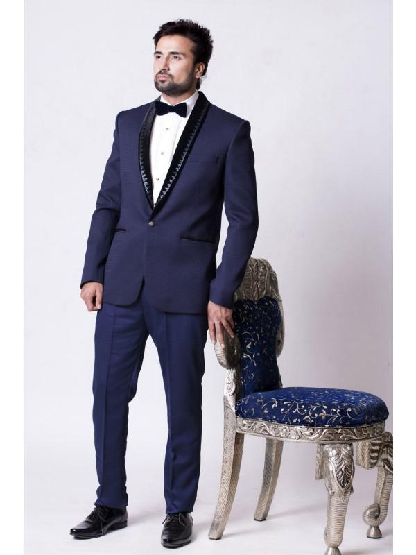 Buy elegant blue color designer Mens tuxedo suit online