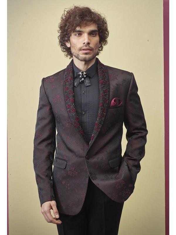 Wine Colour Mens Suit For Wedding.