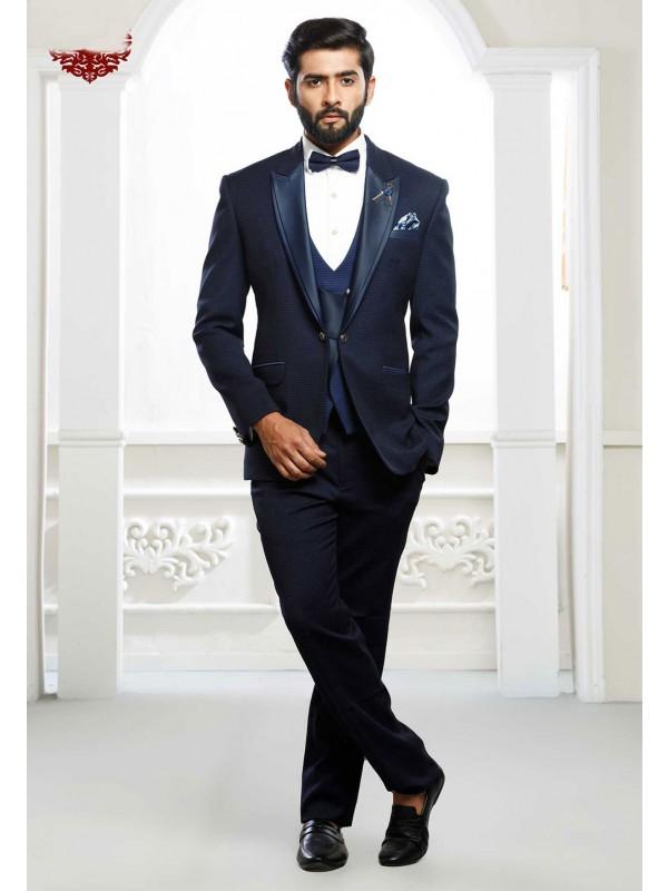 Blue Colour Men's Wedding Suit.