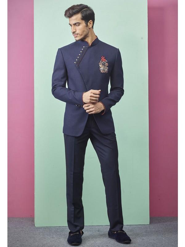 Blue Colour Indian Designer Jodhpuri.
