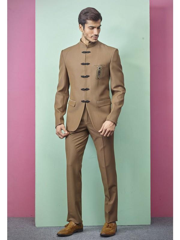 Elegant Designer Jodhpuri Brown Colour Imported Fabric.