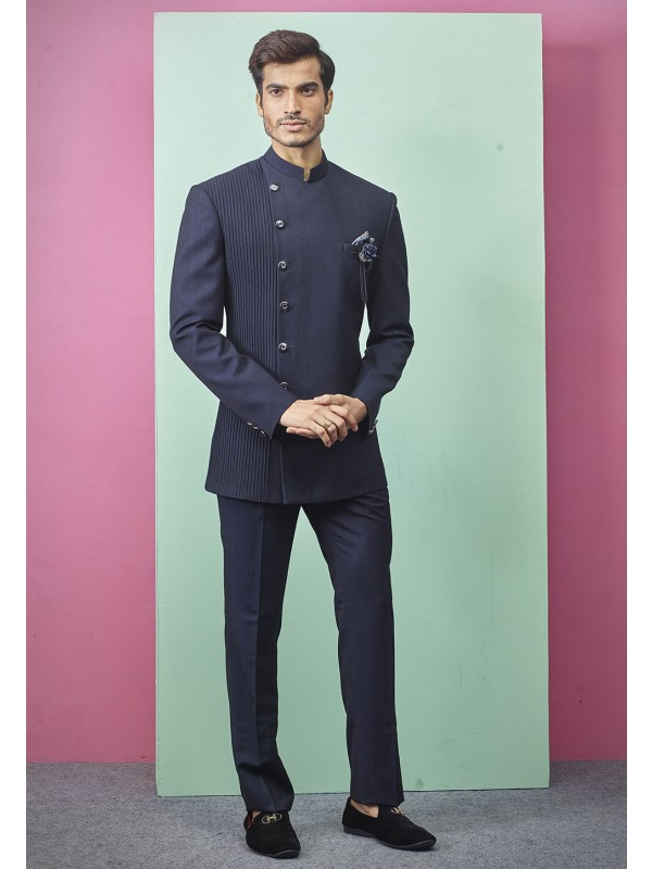 Indian Jodhpuri Suit Blue Colour .