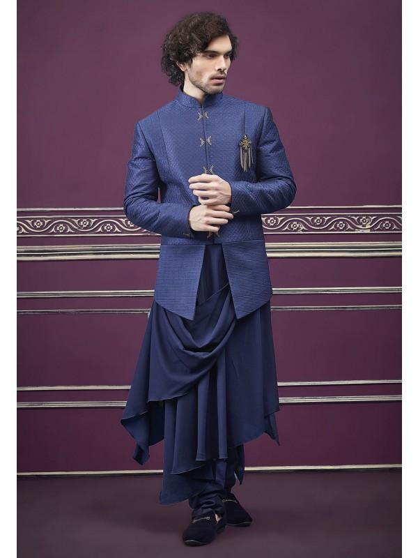 Fabulous Blue Colour Indian Designer Jodhouri Suits Online