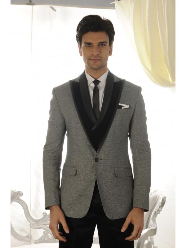 Buy Grey colour elegant mens tuxedo suit online