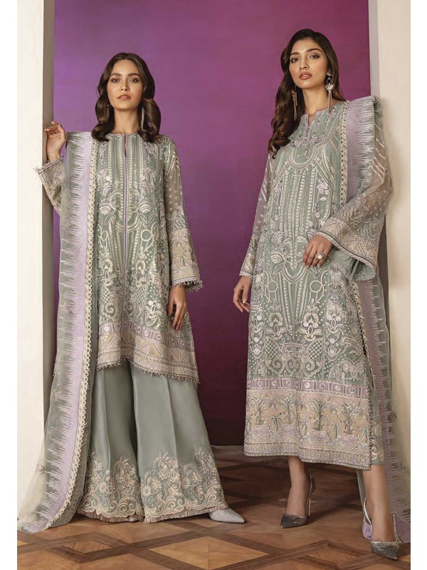 Green Colour Net Palazzo Salwar Suit.