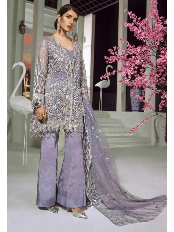 Purple Colour Party Wear Salwar Kameez.