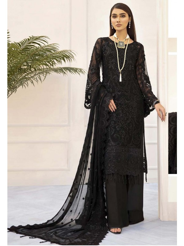 Designer Salwar Kameez Black Colour.