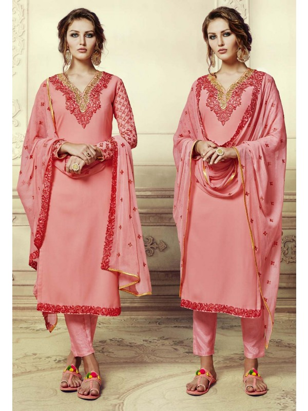 Beautiful Salwar Kameez in Peach Color