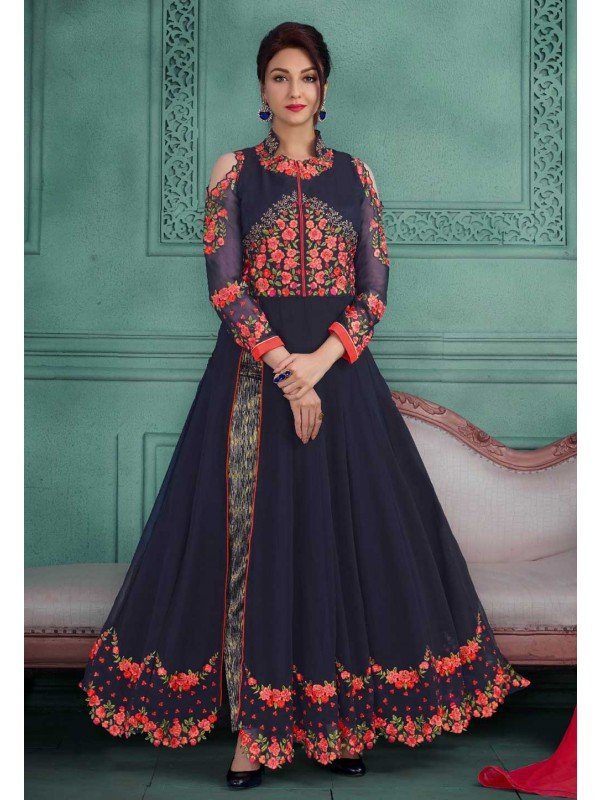 Beautiful Salwar Kameez in Blue Color