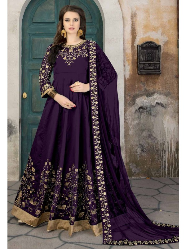 Beautiful Purple Color Designer Salwar Kameez