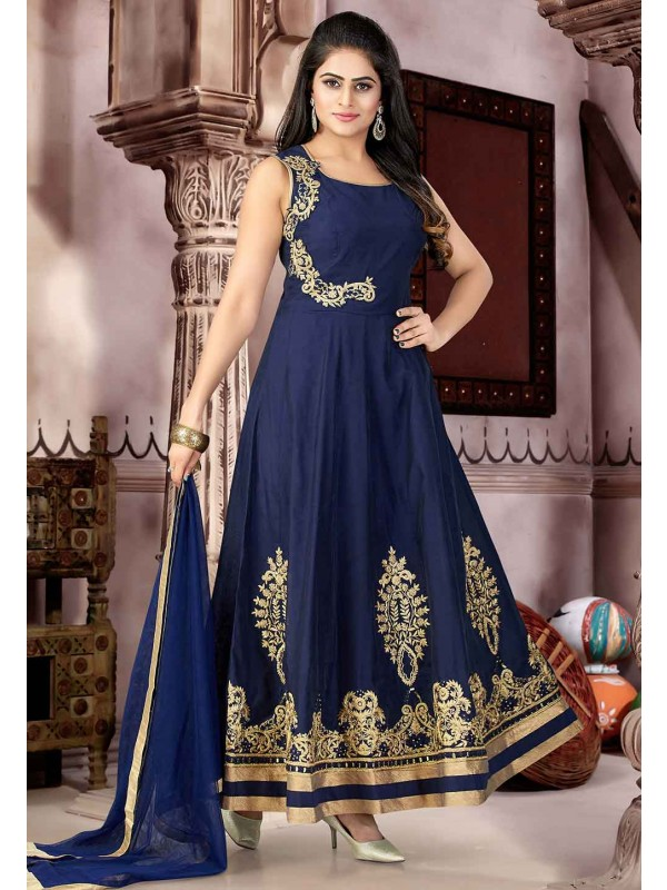 Blue Color Designer Salwar Kameez.
