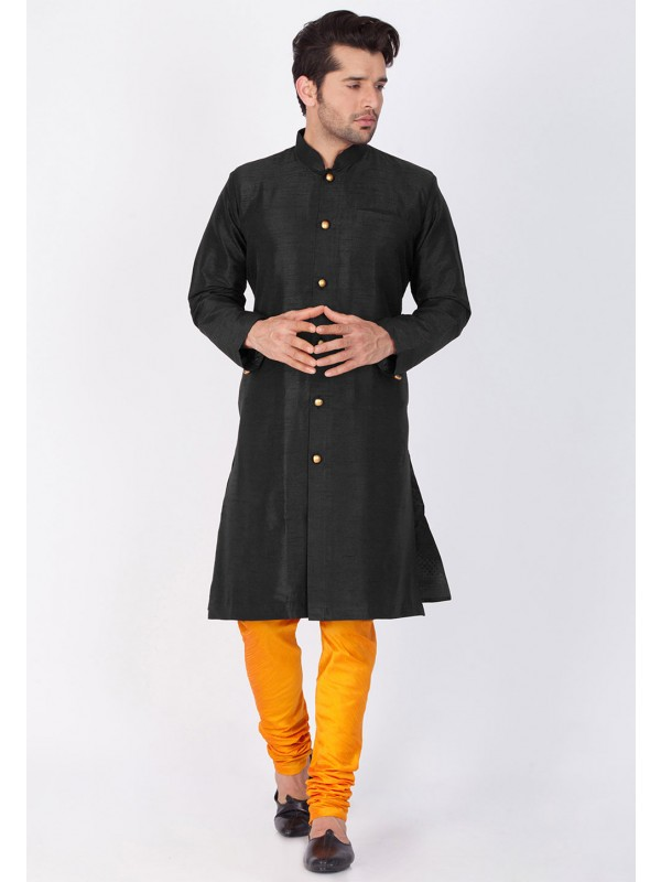 Black Color Indian Kurta Pajama.