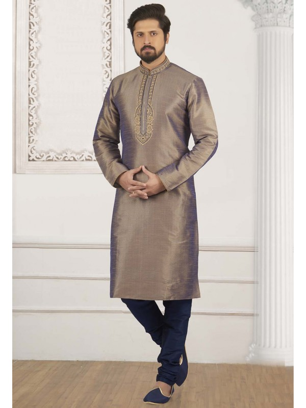 Brown Colour Readymade Kurta Pajama.