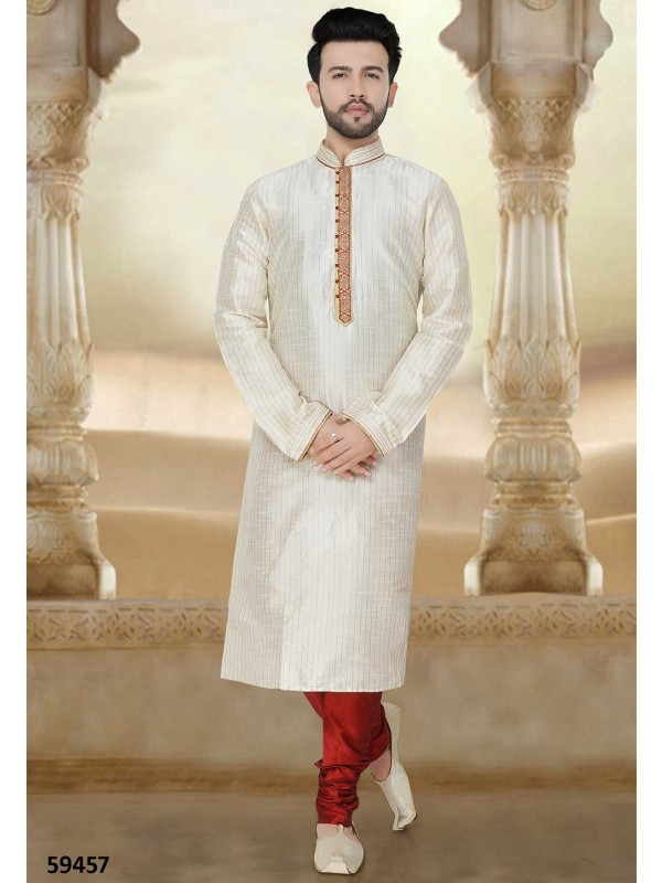 Buy kurta pyjama online in off White Colour
