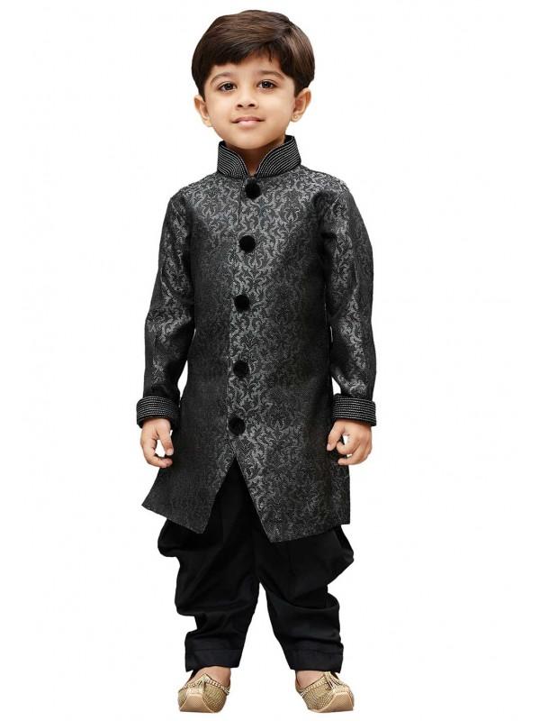 Black,Grey Colour Silk Kurta Pajama.