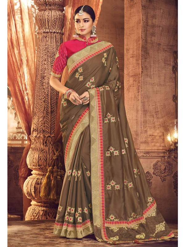 Brown Colour Saree.