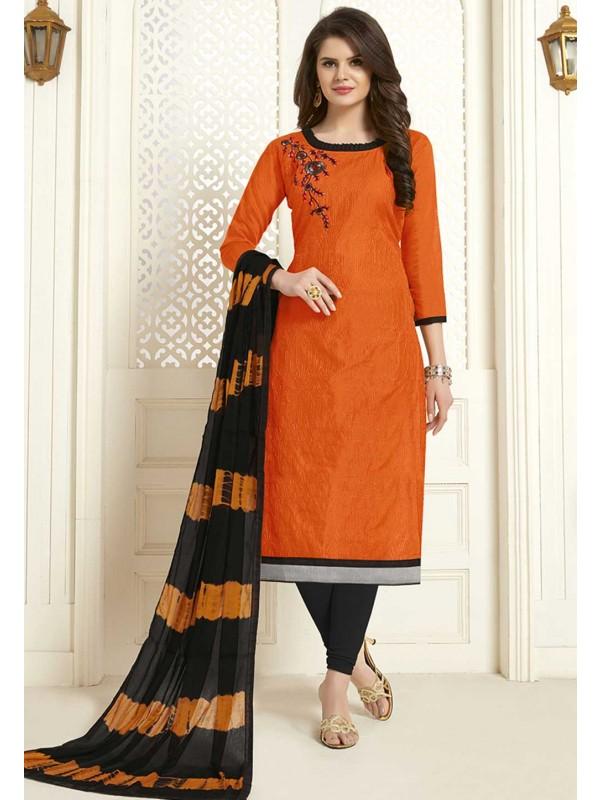 Orange Colour Salwar Kameez.