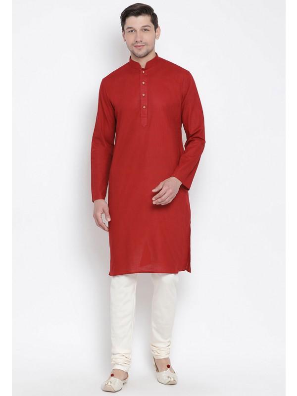 Maroon Colour Indian Kurta Pyjama.