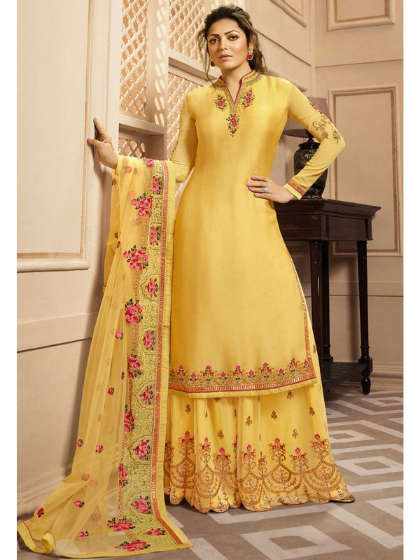 Yellow Colour Indian Wedding Salwar Kameez.