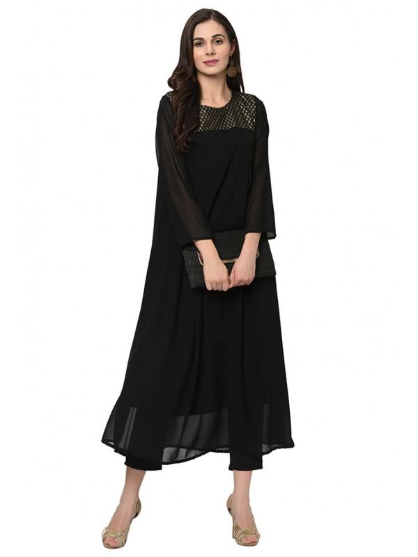 Black Colour Casual Kurti.