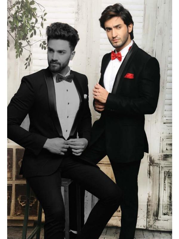 Elegant Black Color Mens tuxedo suit