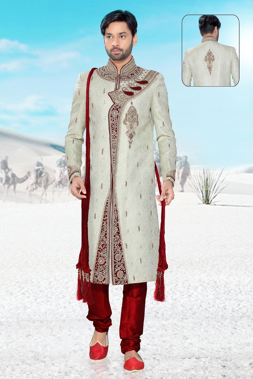 Buy brocade mens sherwani online