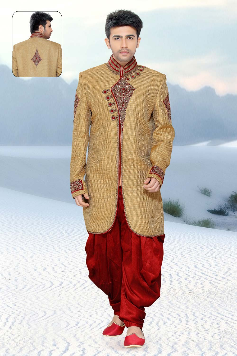 Golden Jute Men's Indo Western