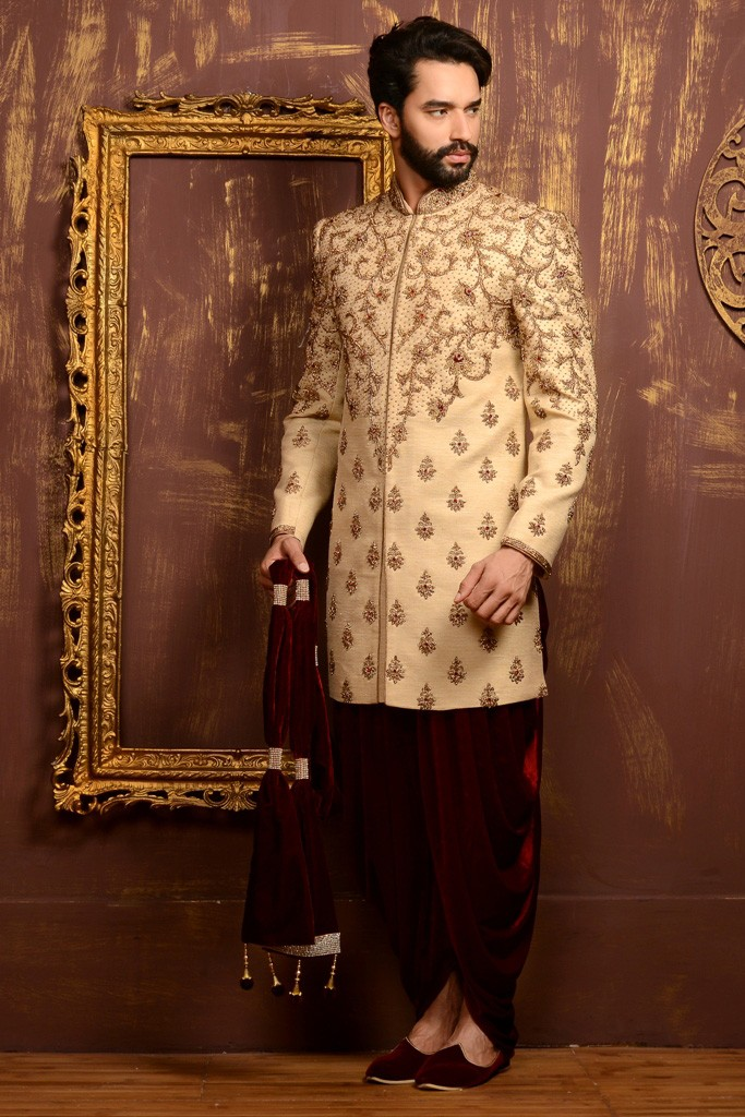 GOLD COLOUR WEDDING INDOWESTERN