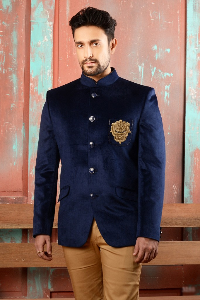 DESIGNER BLUE COLOR JODHPURI SUIT