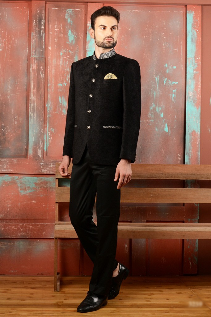 ELEGANT BLACK COLOR JODHPURI SUIT