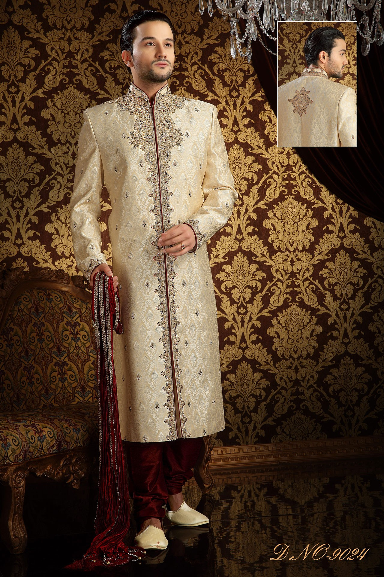 ANTIQUE LOOK SHERWANI
