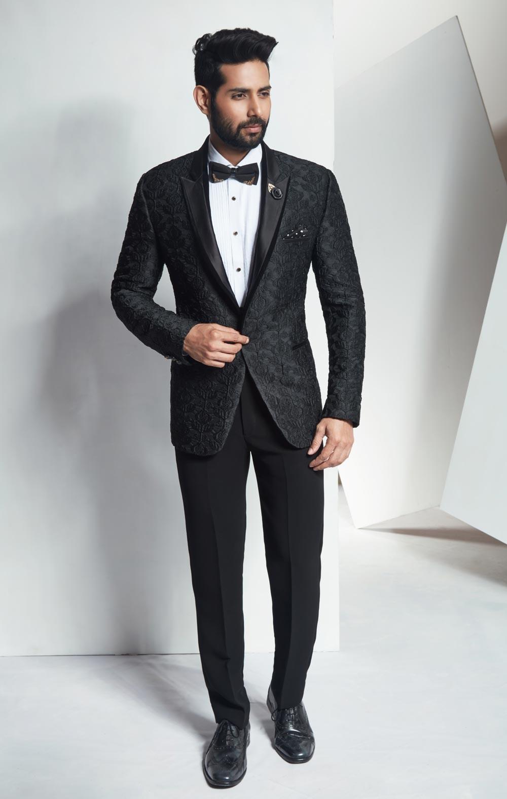 Best Wedding Suits for Men in Elegant Designer Black