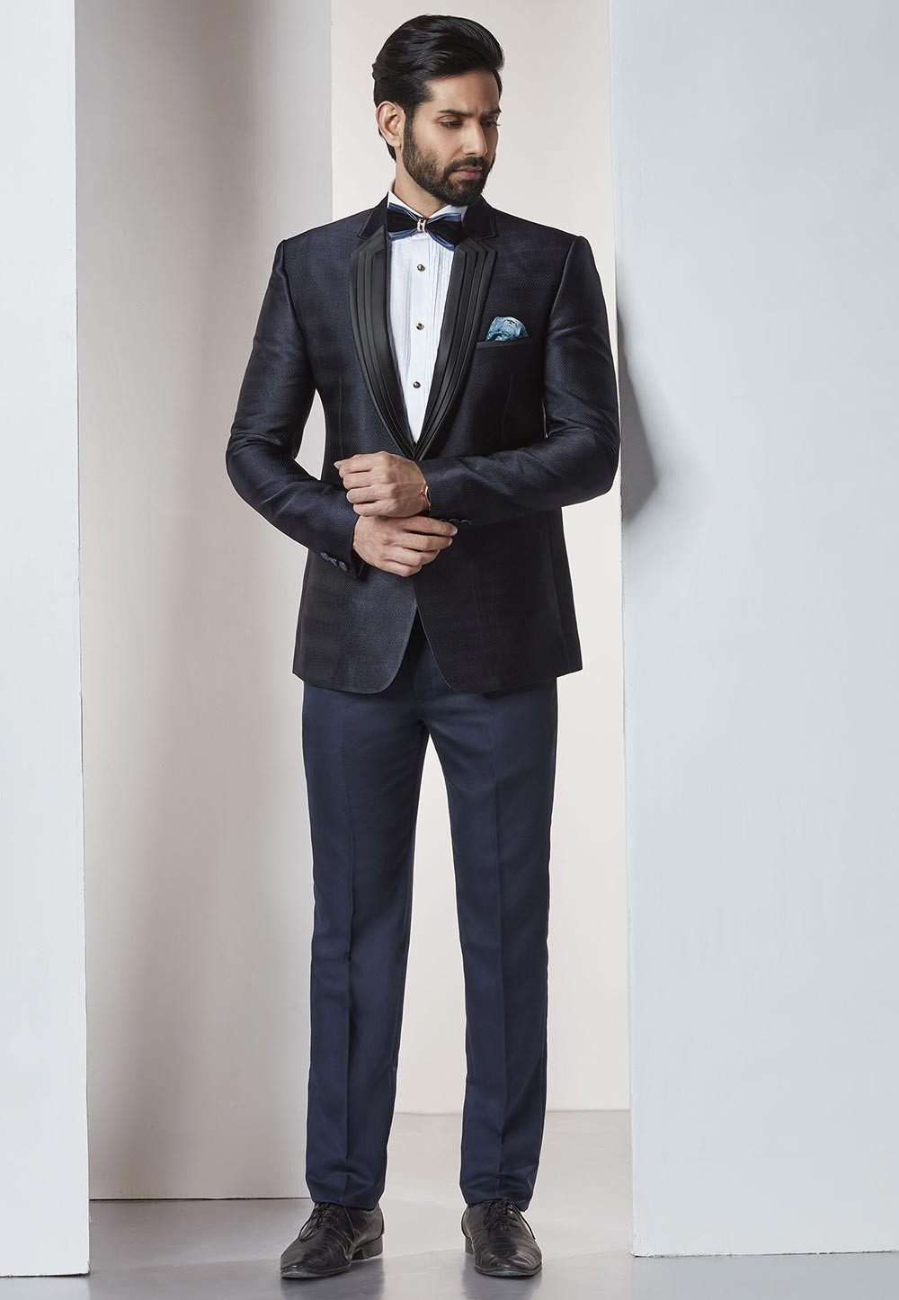 Designer Suits for Men Blue Color Designer Tuxedo Suit