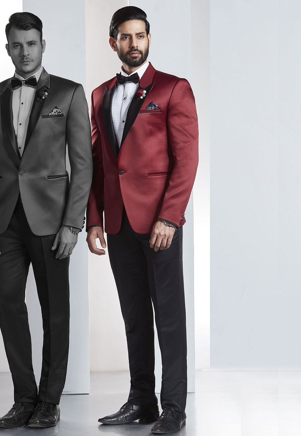 Designer Suits for Men Red,Maroon Color Designer Wedding Suit
