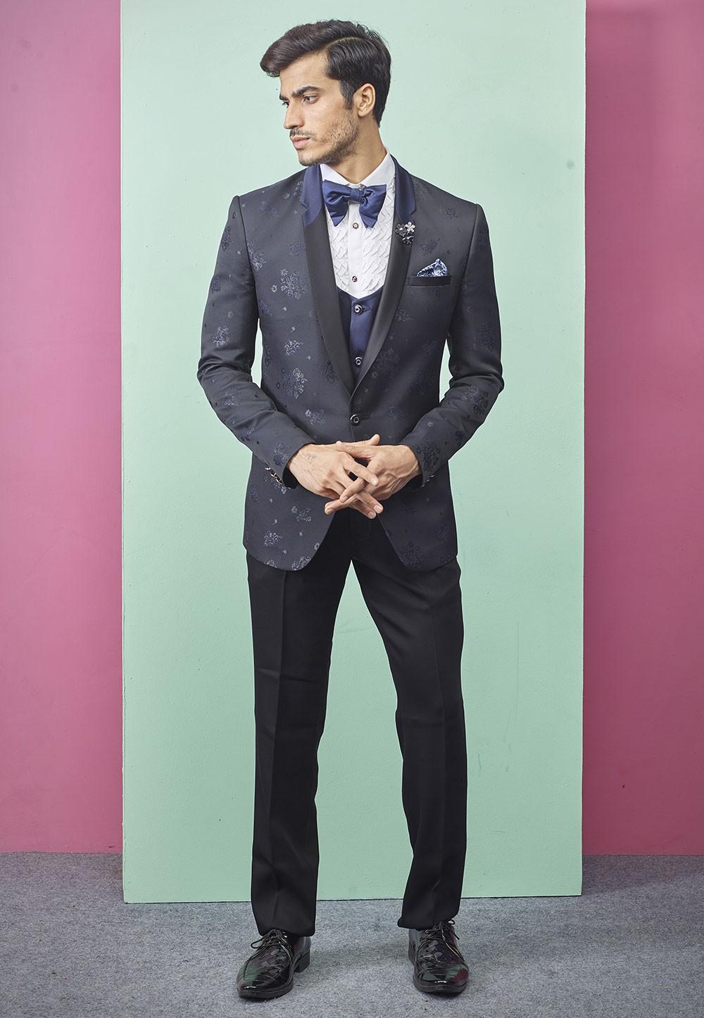 Exclusive Designer Wedding Suit Blue Colour.