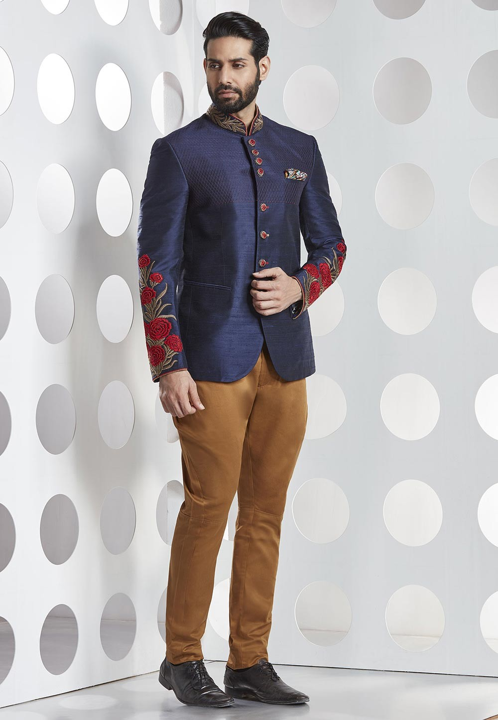 Buy blue Traditional jodhpuri wedding suits for mens
