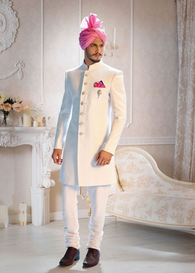 Flamboyant White Men`S Wear