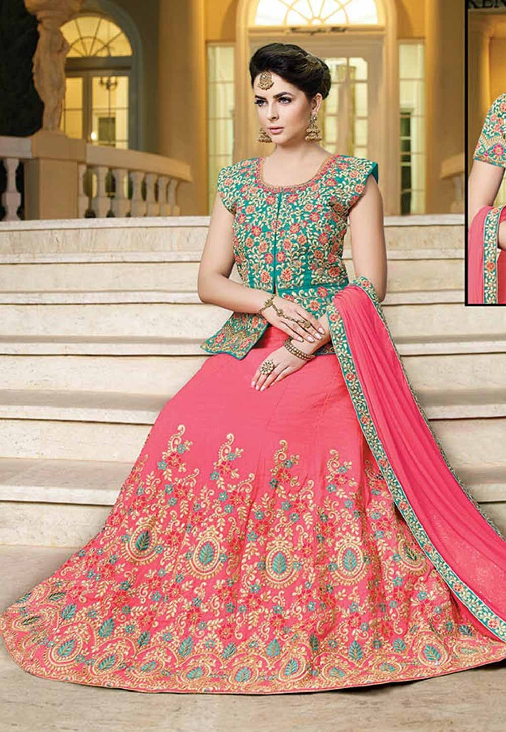 Pink Color Lehenga Choli.